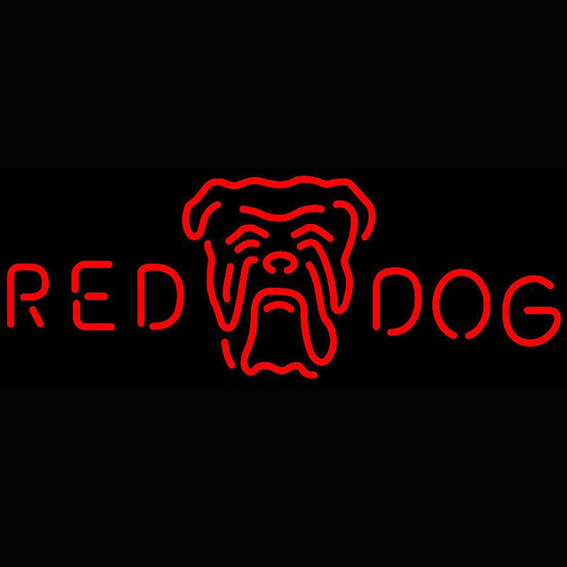 Shop Flashing Battery Operated Mercury Lamp Tube Red Dog Head Logo Neon Sign With Factory Price