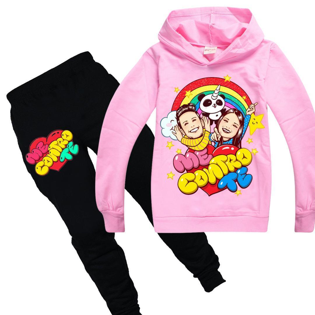 الأطفال رياضية الأولاد ملابس كاجوال تعيين البدلة حلي عني كنترول تي رياضية للفتيات في سن المراهقة كم طويل البلوز هوديس + بانت
