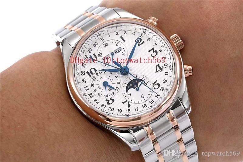 Top MASTER COLLECTION L2.773.4.78.6 Часы наручные Швейцарский 7751 Автоматический хронограф 28800 полуколебаний Годовой календарь фазы Луны сапфировое