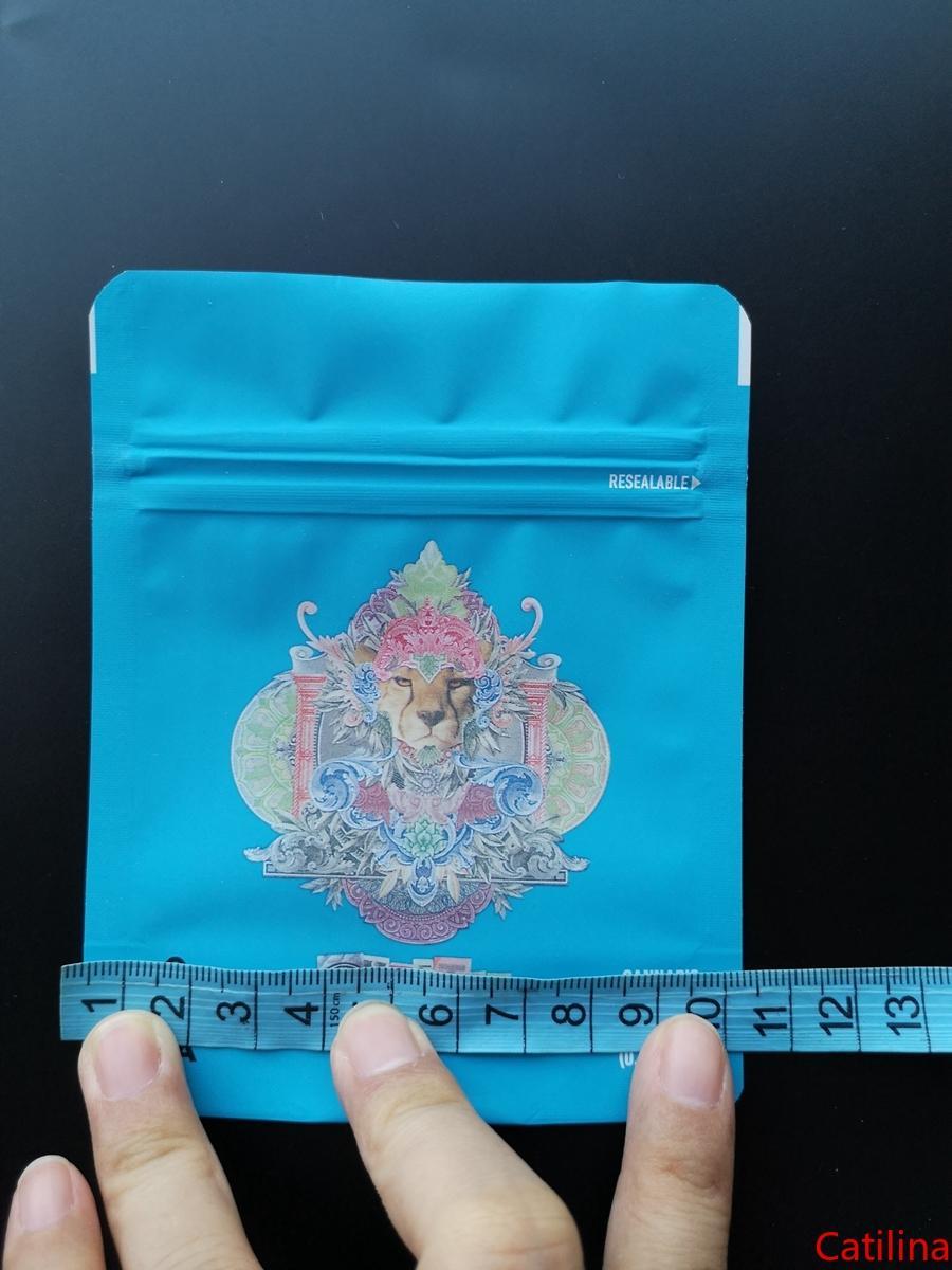 Cookies Packaging Borse Dry Herb Flower Odore Proof Bag 3.5g Mylar a chiusura lampo pacchetto Cheetah Piss Gelati Garry Payton Londra Pound