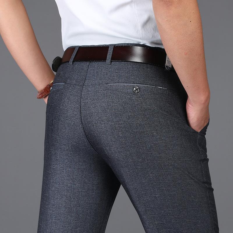 2019 Summer Thin Men's Business Casual Pants Young High Waist Straight Pants Loose Pants Dad mens designer sweatpants