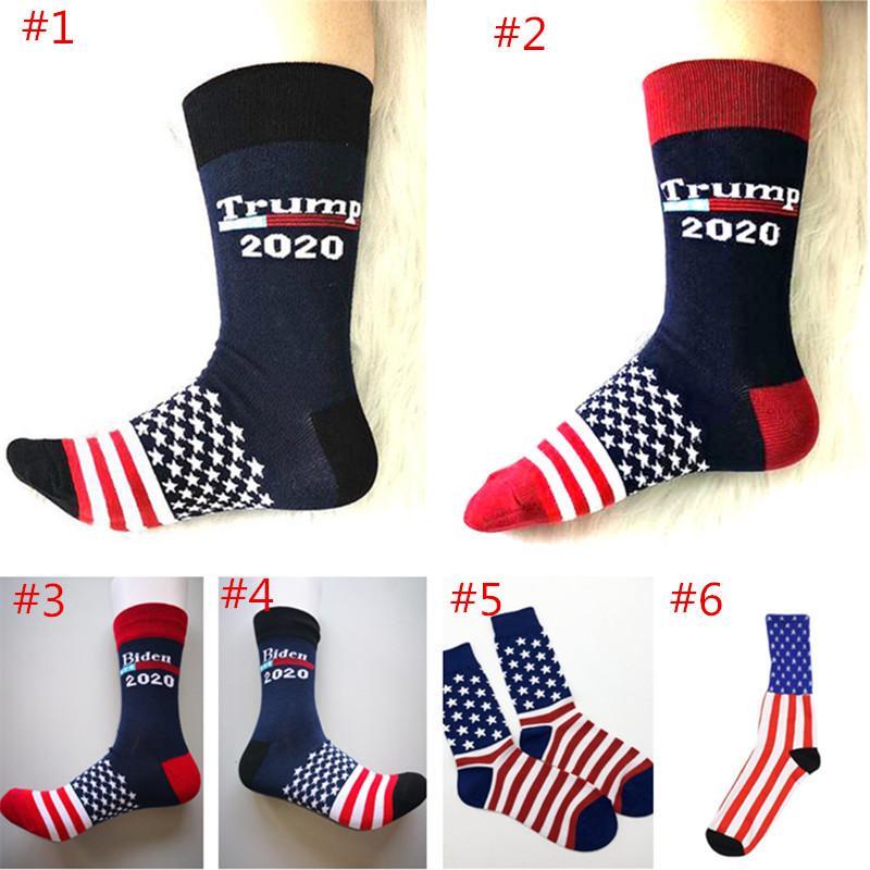 Дональд Трамп нашивки кампании президента Носок 2020 Make American Great Популярные моды Буквенные носки Популярные Durable Мужчины Женщины чулки