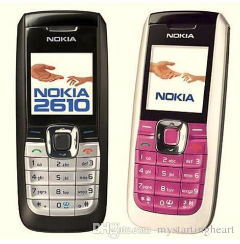 Refurbished Original Nokia 2610 Bar Cheap Mobile Phone Multi-languange GSM 2G Network 4 Colors Full Set Cellphone Free Post