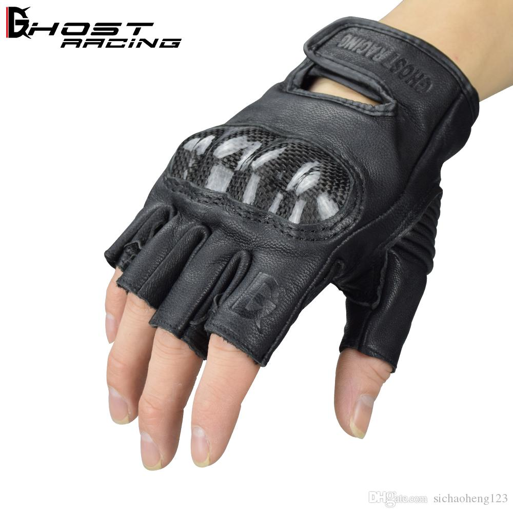 Brand Unisex Summer breathable leather racing off-road gloves riding gloves motorcycle half finger gloves/cycling gloves winproof black