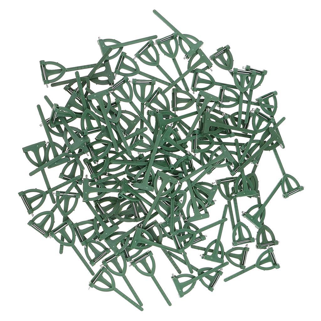 Sicurezza Pins asole Boutonniere Corsages 100 Pezzi verde di plastica per la cerimonia nuziale dello sposo Spilla fai da te
