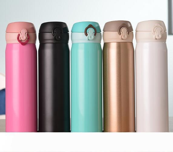 500 мл из нержавеющей стали Thermo Mug термос бутылки воды Кухни термосы Кубок Изолированного Термос Открытого кофе бутылка