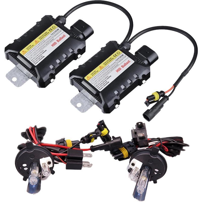 1 set H4 35W AC 55W H13 9004 9007 Xenon e Fari alogeni lampadina e kit Slim Ballast sorgente di luce 4300K 6000K auto