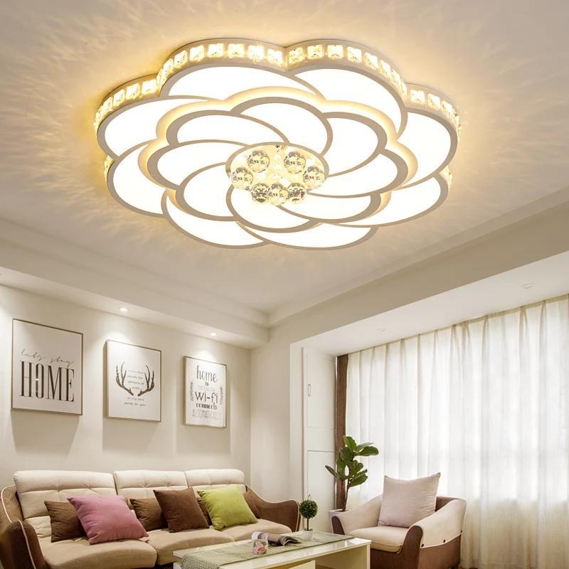 Neue Kristall-LED Kronleuchter Beleuchtung Dia 52/68 / 80cm Deckenleuchter für lampadario Wohnzimmer Schlafzimmer Glanz luminaria