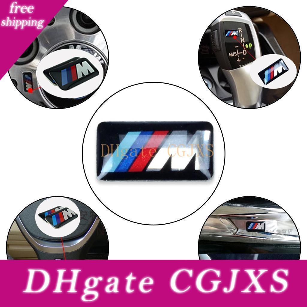 Insignia de la rueda del vehículo del coche deportivo M 3d del emblema de la etiqueta engomada del logotipo de BMW M Series M1 M3 M5 M6 X1 X3 X5 X6 E34 E36 E6 Car Styling Pegatinas