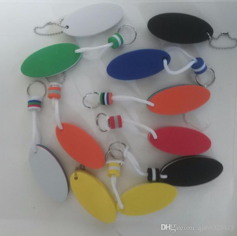 모노그램 PVC 타원형 키 링 EVA 키 링 펜던트 부동 물 거품 스폰지 l 광고 프로모션 선물 키 링