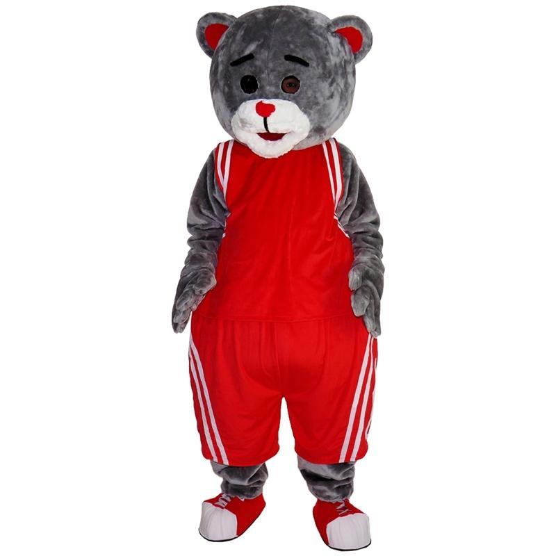 2018 nuevo de alta calidad trajes Deporte mascota del oso de circo para adultos navidad de Halloween traje elegante traje de envío