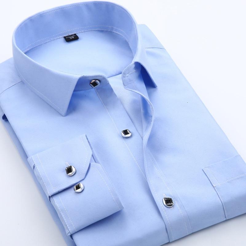 Camicie da uomo Abito da uomo Primavera Fashion Fashion 2007 Solid Shirt Sale Slim Fit Cotton Skirt Breve Gonna a maniche lunghe Chemise Homme 8025