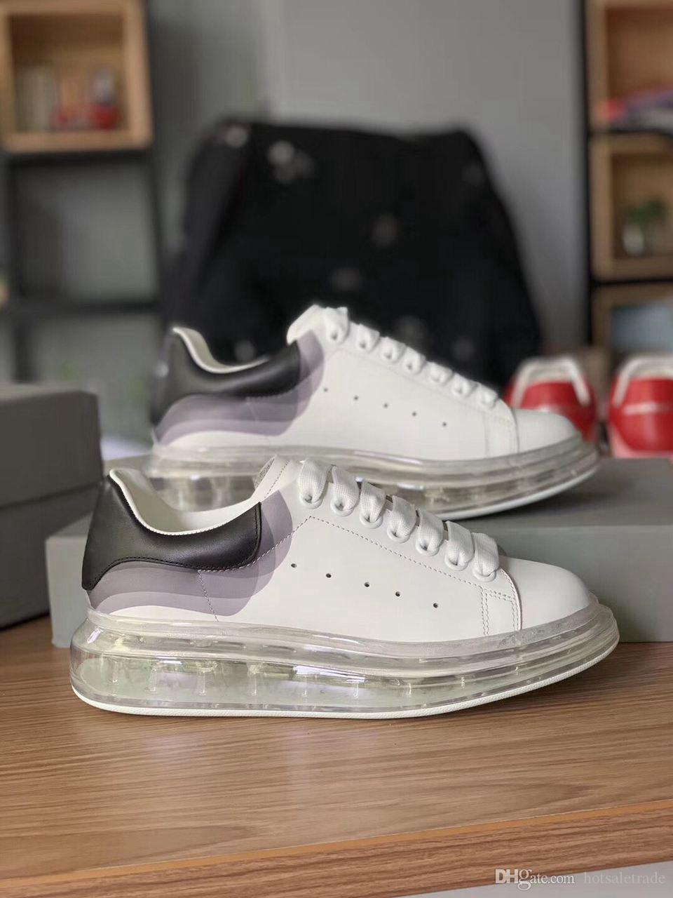 Piattaforma delle donne degli uomini neri Scarpe scarpe Air Cusion Sneakers Casual Shoes 2019 neri Pattini casuali con la scatola, sacchetto di polvere