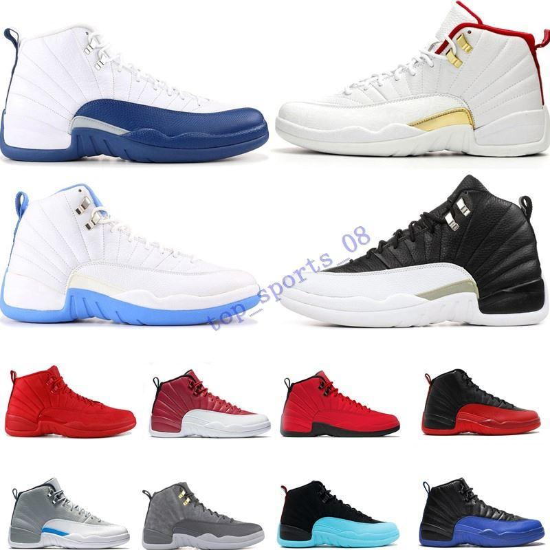 مصمم الجديد جيم الأحمر 12 12S أحذية كرة السلة للرجال بولز ميشيغان THE MASTER أسود أبيض أزرق GAMMA رجل مدرب الرياضة حذاء رياضة حجم 40-47