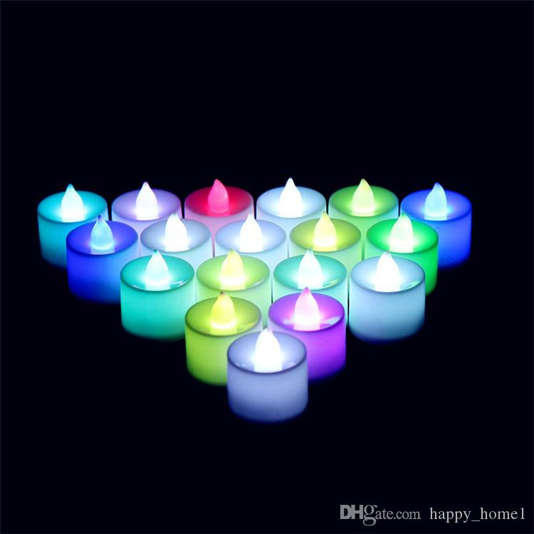 СВЕТОДИОДНЫЕ Чайные Огни Беспламенные Вотивные Tealights Свеча Мерцающий свет лампы Небольшой Электрический Поддельные Свечи Реалистичные день рождения Свадебный Стол Подарок