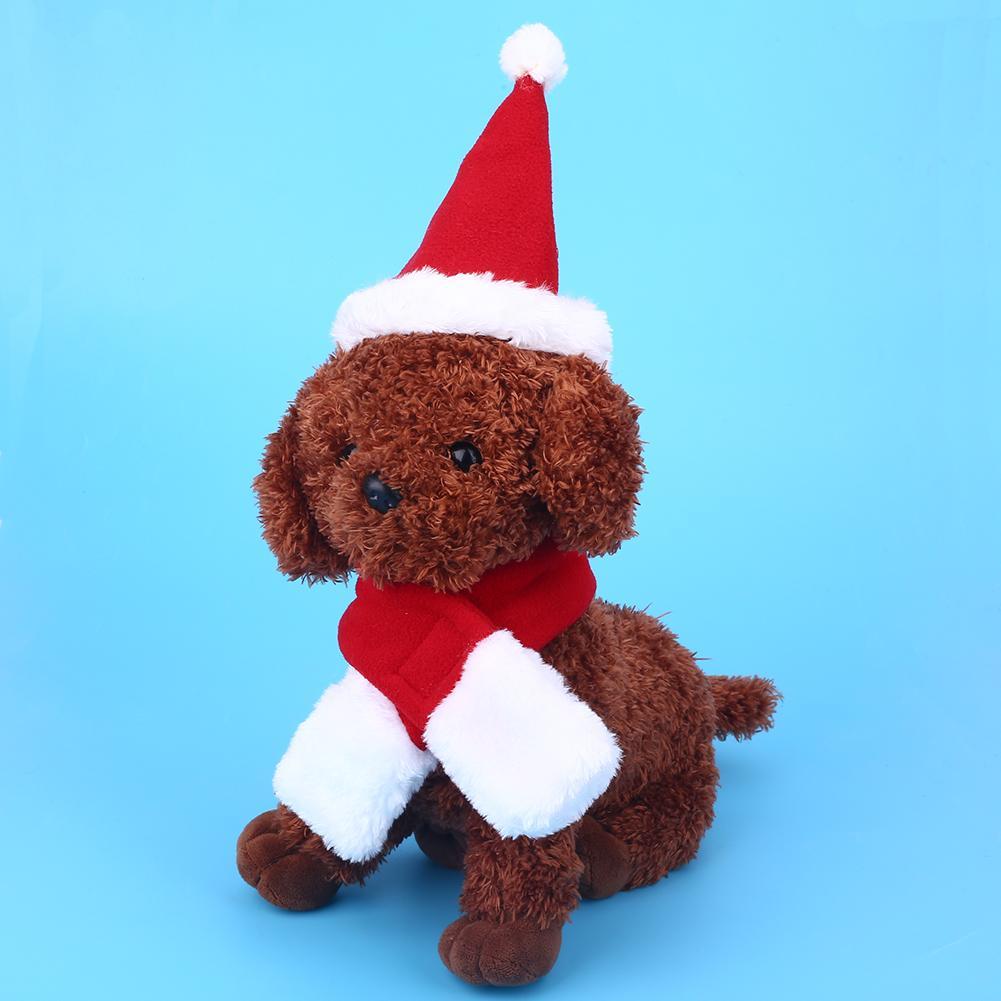 Lovelty bonito do animal de estimação do gato do cão Caps Scarf Set Natal Cosplay Props Acessórios