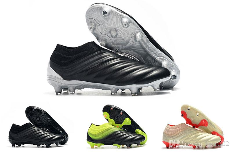 2019 Soccer Cleats High Quality Copa 19+ FG Laceless Football Shoes Outdoor Mens Trainers Training Sneakers Soccer Boots Cheap Size 39-45