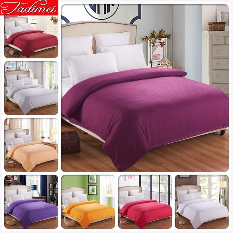 1 Piece Duvet Cover Plain Pure Color Quilt Comforter Bedding Bag Adult Kids Soft Cotton Single Full Queen King Big Size