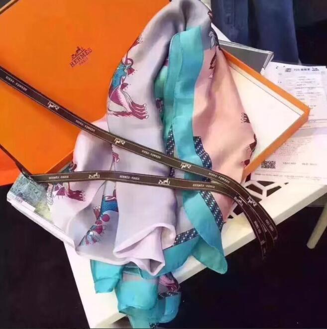 2020 commercio all'ingrosso di alta qualit modo di seta multicolore donne sciarpa Estate Designer sciarpa Flower Label 180x90cm scialle di seta Lettera Sciarpe