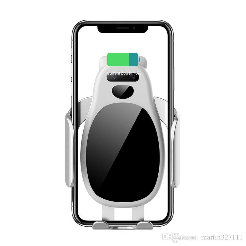 2019 Shenzhen factory best selling universal Car Holder Mobile Cell Phone mount With Mobile Phone Fast Wireless Charger car mount for Phone
