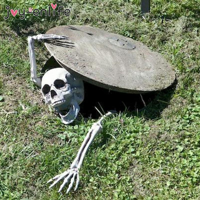 Horror fiesta de halloween decoración plástico realista cráneo y manos para halloween casa embrujada cementerio cosplay diy jardín casero sh190913