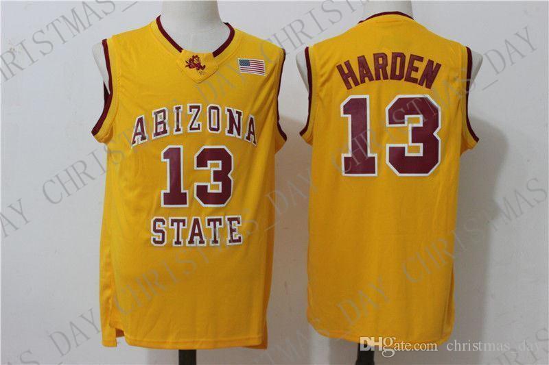 Arizona State pas cher sur mesure # 13 Basketball Jersey Cousu 3 couleurs Personnaliser Cousu un numéro de nom HOMMES FEMMES DES JEUNES JERSEY XS-5XL
