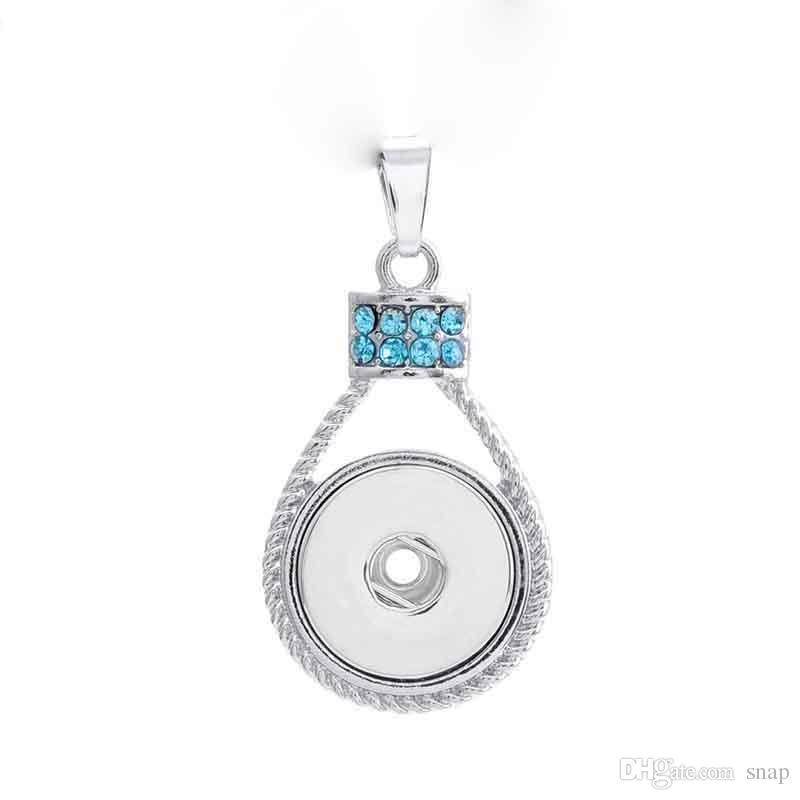 Mode Interchangeable En Métal Fleur Amour Gingembre Cristal Collier 188 Fit 18mm Snap Bouton Pendentif Charme Bijoux Pour Femmes Cadeau