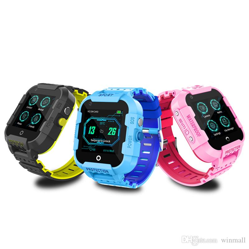 DF39 Kids Smart Watch GPS Tracker 4G LTE IP67 Waterproof SOS Call Video Chat Android 6.0 with Camera Children gift