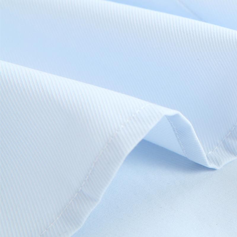 Manga larga sólido de la tela cruzada vestido básico Camisas de hombre con botón de cierre Negro tuberías estándar de ajuste ocasional de la camisa de la blusa Oficina de Trabajo