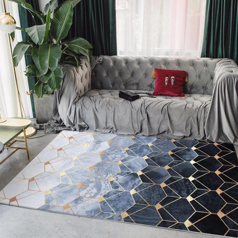 Moderne Maison De Mode Tapis Motif Géométrique Doux Tapis New Nordic Simple Salon Chambre Table Basse Tapis De Sol/Tapis