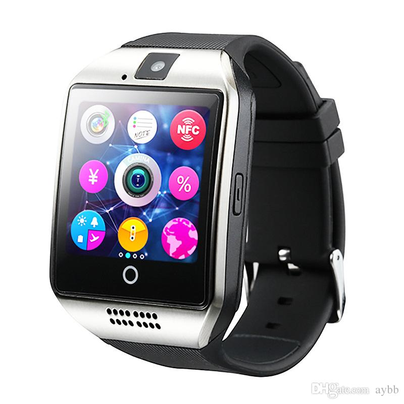 2019 Q18 Smart Watch Bluetooth Smart watches for Android Cellphones Support SIM Card Camera Answer Call and Set up Various Language with Box