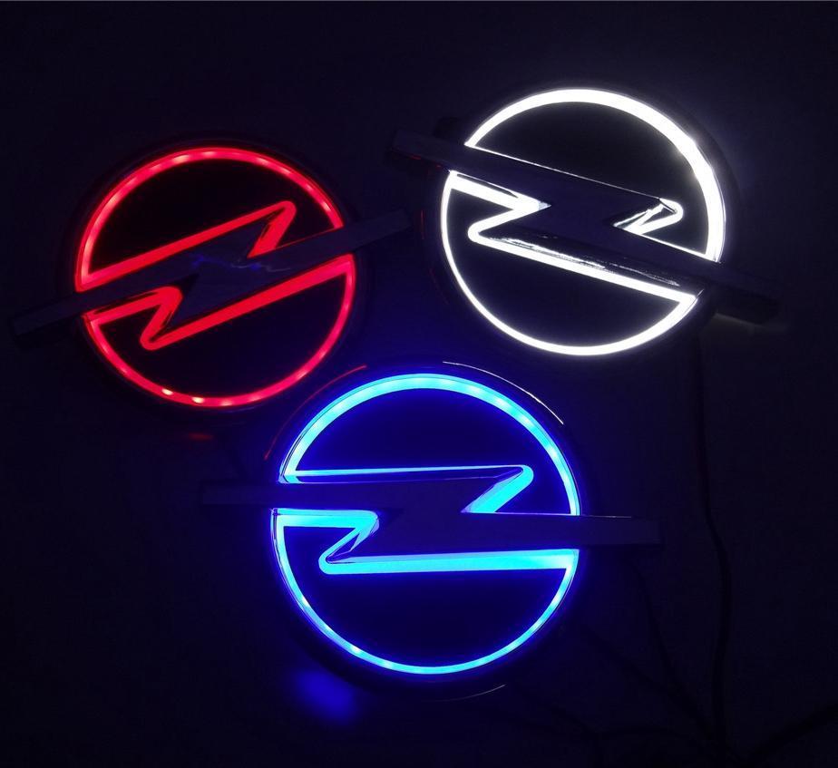 새로운 5D 자동차 표준 자동차 배지 램프 특수 수정 자동차 로고는 오펠에 대한 가벼운 자동차 엠블럼 LED 램프 LED