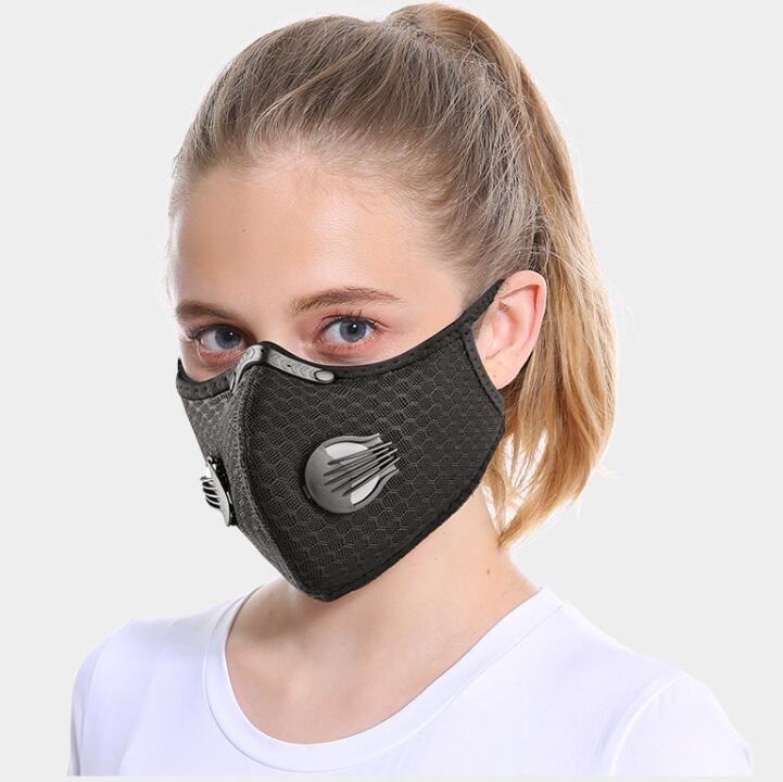 US Lager! Designer Gesichtsschutz Mesh-Staub / Gas-Maske mit Schutzumschlag, Smog Schutz Radfahren Maske einstellbar Respiratorschablone FY9060