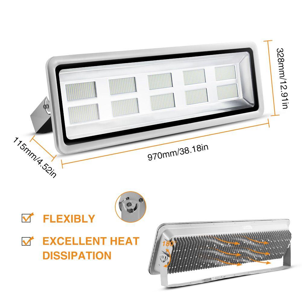 50W Светодиодный прожектор SMD Открытый лампы Холодный белый 110-120В IP65 Светодиодный светильник высокого Bay Light Square Освещение