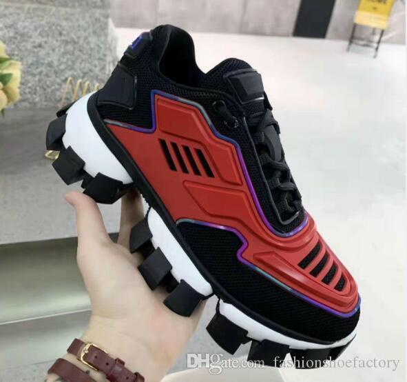 Cloudbust Trovão Knit Sneakers Mens Designer de Luxo sapatas das mulheres clássicas Shoes Casual Top Quality Tecido Rubber Trainers exterior da sapatilha
