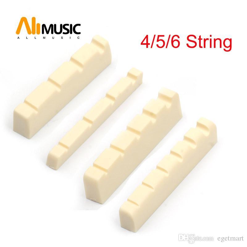 100pcs Ivory Plastic R400 4/5/6 String Bass Guitar Bridge Nut Electric Bass DIY Repair Part