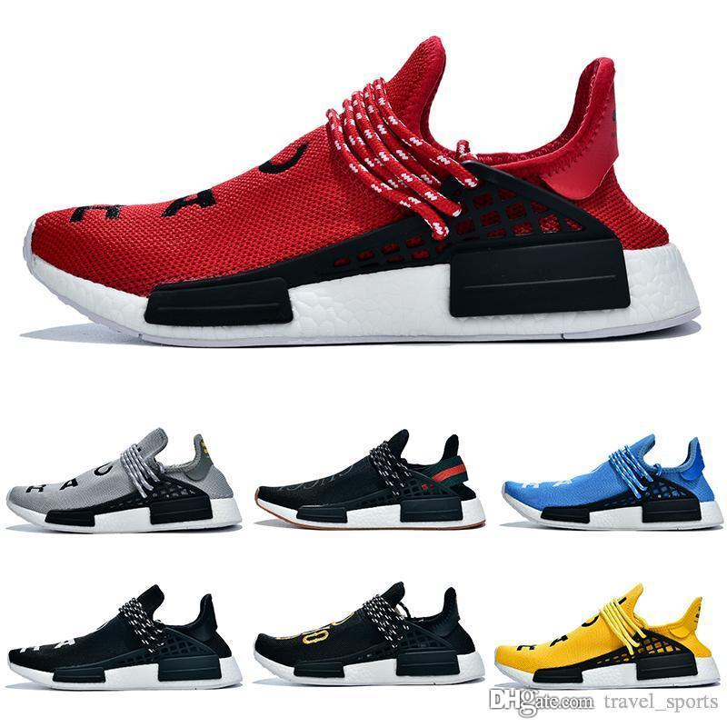 Adidas HUMAN RACE NMD BBC x NERD Human Race 3 Pharrell Williams Trail Running Pack solaire pour Femmes Hommes Formateurs PW HU Designer Sport Chaussures CB278