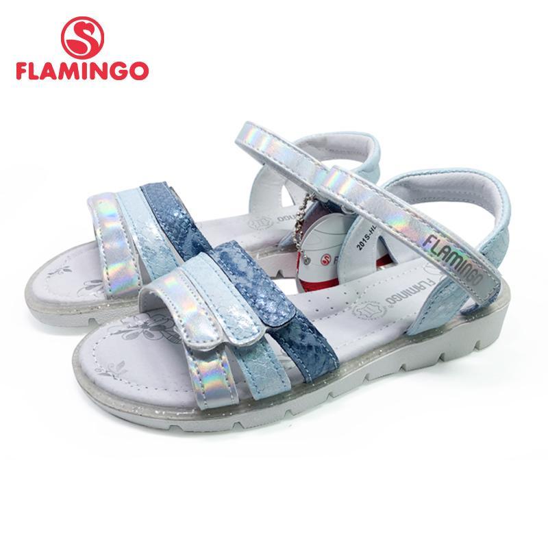 FLAMINGO 2020 여름 아이 샌들 루프 평면 아치형 디자인 Chlid 캐주얼 공주 신발 사이즈를 여자 201S-HL-1761 CX200704를 들어 31-36 # 후크