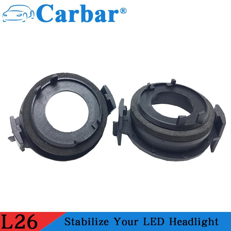Адаптер LED E46 Автоаксессуары LED Фара адаптер H7 автомобиля Основание для E46 3 серии 325i 330i 325CI 330CI Low Beam
