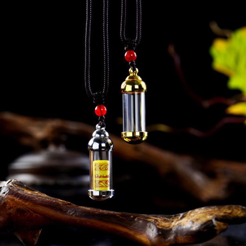 Kristal Kül kolye kadın parfüm şişesi takı aracılığı kolye cam Şişe