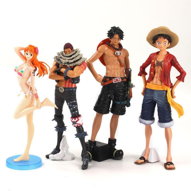 Аниме One Piece Portgas Ace Купальник Nami Манки Д. Луффи Шарлотта Katakuri ПВХ фигурку Коллекционная модель игрушки