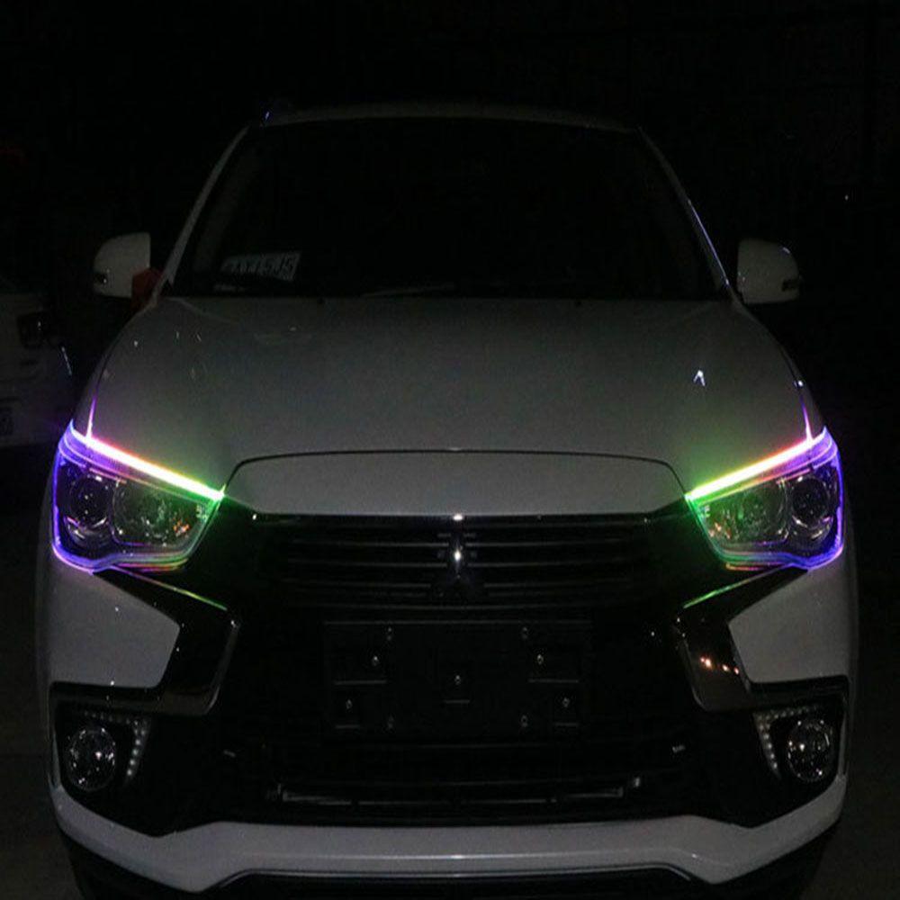 Автомобиль брови света Ультратонкой направляющей планка RGB LED стример поворота шатра к Teardrop красочного света бара