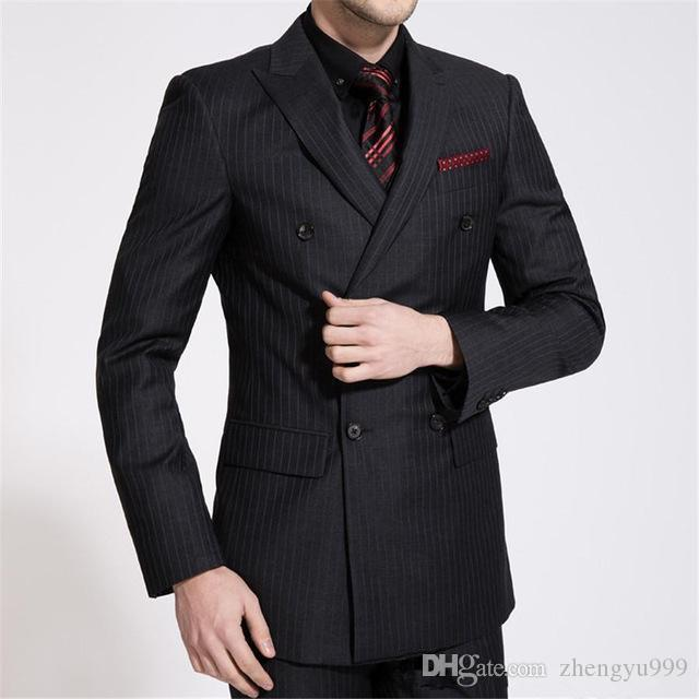Latest Design Men Suits for Wedding Ivory Groom Tuxedo trajes de hombre 3Piece Coat Pants Vest Black Shawl Lapel Tailored Terno Masculino