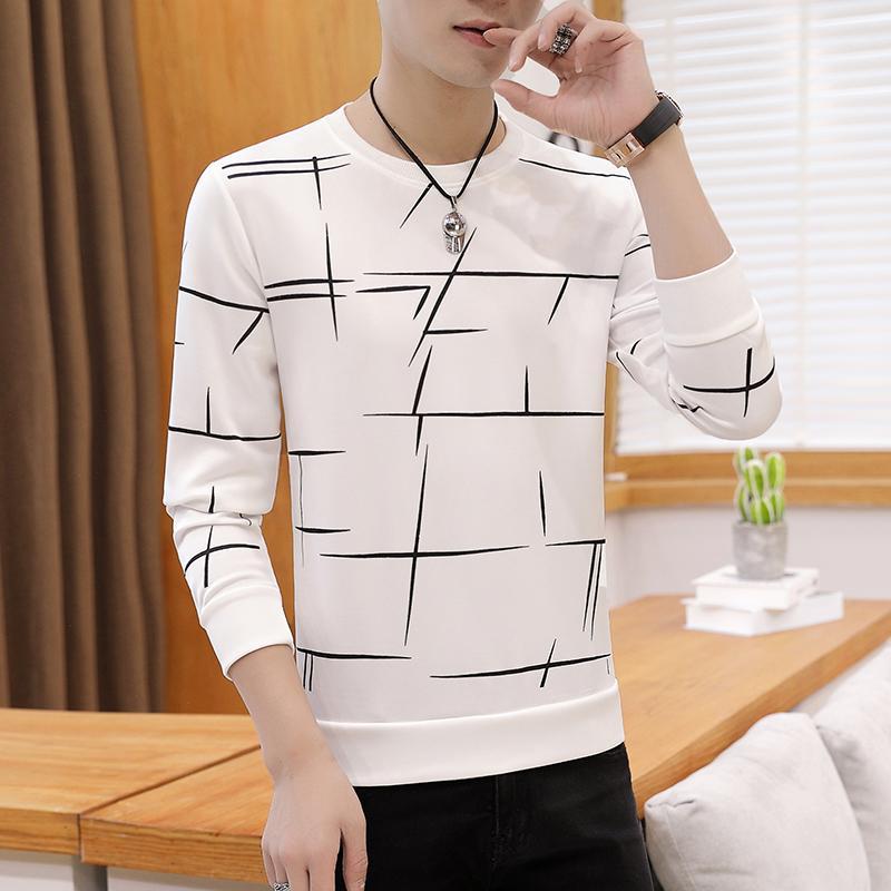 2020 neue Männer Herbst Leinen-T-Shirts Männer Langarm-chinesische Art Spitzen Hemden Fest Farbe Weiß Leinenbaumwollder T-Shirt M-3XL