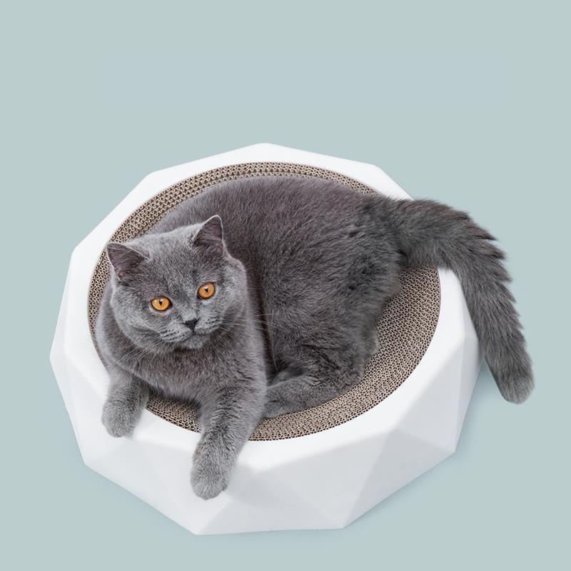 Jouets pour les chats Scratching Board Claw Grinder Nest Ronde Produits de papier ondulé Broyage de repos forts Animaux durables