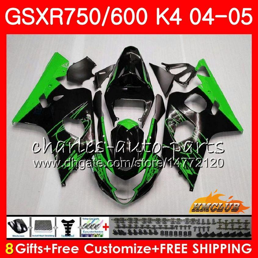신체의 스즈키 녹색 판매 뜨거운 GSXR 750 GSX R600 R750 GSXR600 2004 2005 7HC.21 GSXR 600 GSXR750 04 05 GSXR600 K4 GSXR750 04 05 바람막이