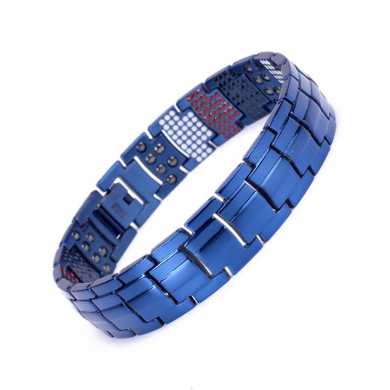 New Mens Health Power Energy Bracelets Bio Elements Care Bracelet Titanium Steel Bangles Germanium Wristband Male Jewelry