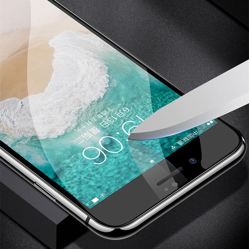 6d kavisli yüzey temperli cam için iphone x 8 7 6 s ekran koruyucu 9 h sertlik tam tutkal kaplı cep telefonu