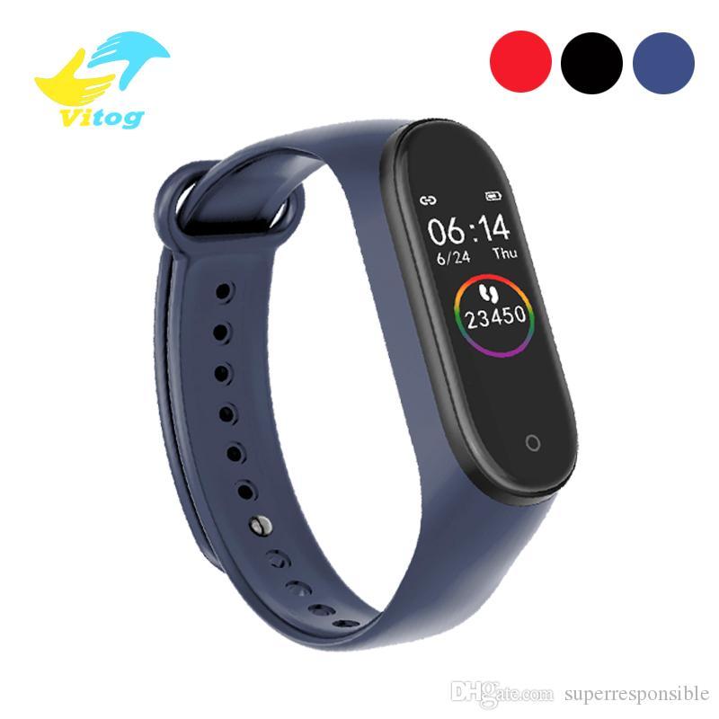 Vitog M4 Smart Bracelet Sport Fitness Tracker Intelligent Watch Heart Rate Smart Watchband Wristband Fashion Watch vs m3