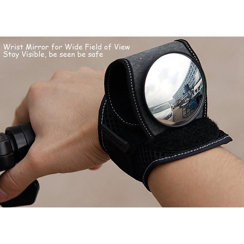 Pulso Espelho de bicicleta Espelhos de bicicleta Retrovisor Pulseira Motorbike guiador refletor Pulseira Espelho material equestre